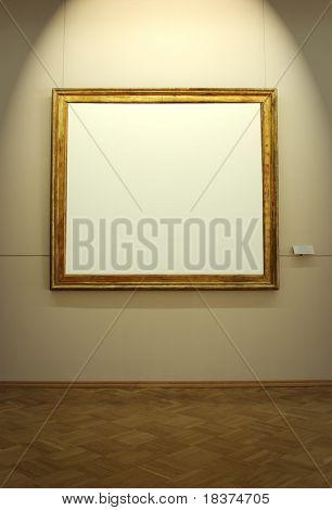 blank frame in the museum