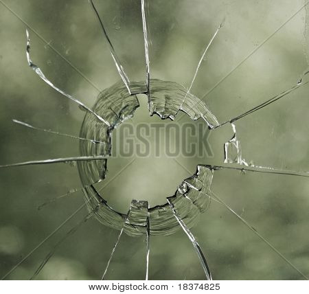 hole in glass