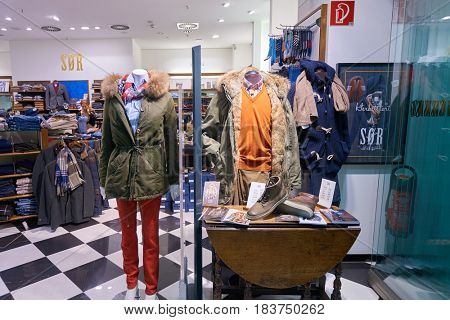 COLOGNE, GERMANY - CIRCA SEPTEMBER, 2014: inside a store at Cologne Bonn Airport.