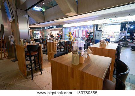 COLOGNE, GERMANY - CIRCA SEPTEMBER, 2014: inside Cologne Bonn Airport.
