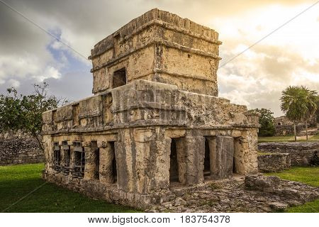 Tulum Ancient Maya Archeological Site in Yucatan Mexico