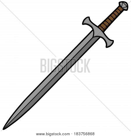 A vector illustration of a cartoon Sword.