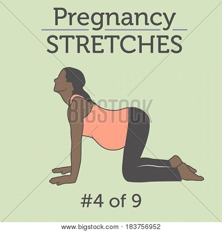 A Diverse African American Young Lady Doing Her Pregnancy Exercise And Yoga Workouts