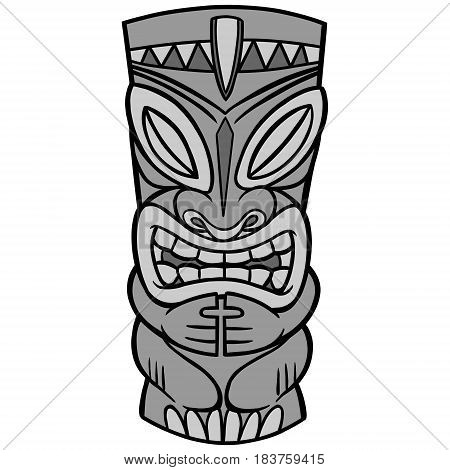 A vector illustration of a Tiki idol.