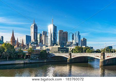 Beautiful Cityscape Of Melbourne Cbd