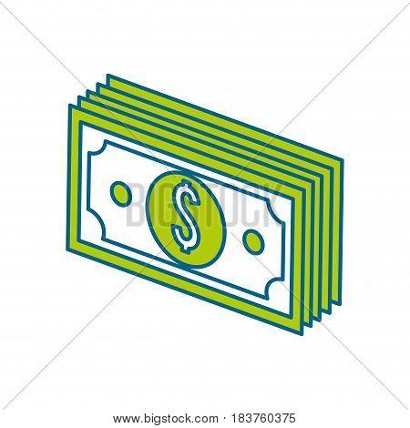 green bill dollar money, vector illustration design