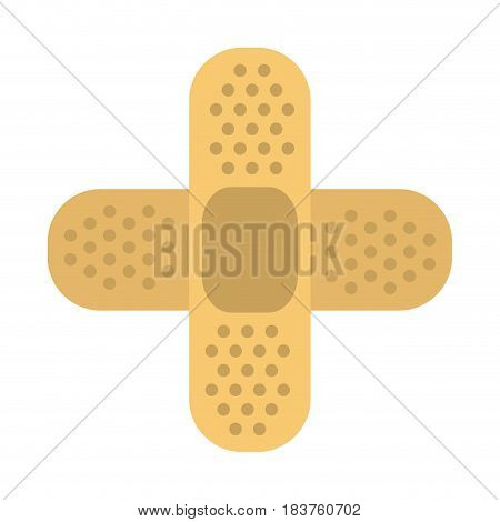 crossed adhesive bandages healthcare icon image vector illustration design