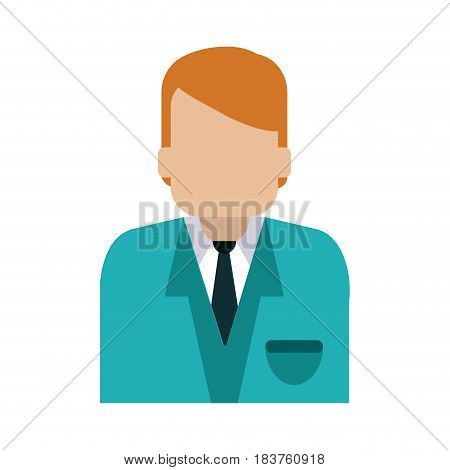 faceless man with blue uniform blazer icon image vector illustration design