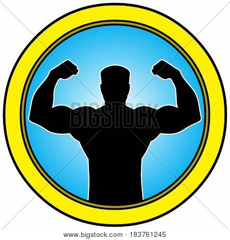 A vector illustration of a Body Builder symbol,