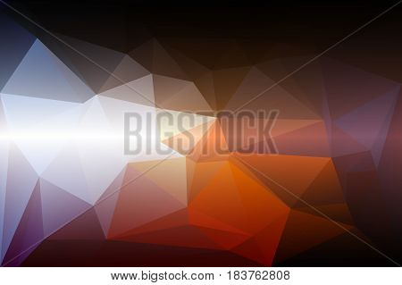 Brown orange white abstract low poly geometric background