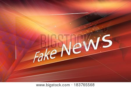Graphical digital fake news background with arrows and news text. 3d render 3d illustration