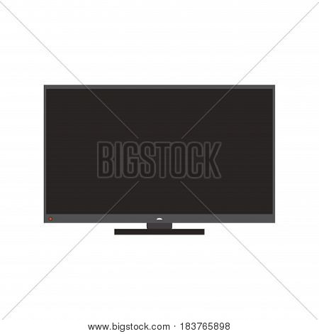 modern flat screen tv icon image vector illustration design