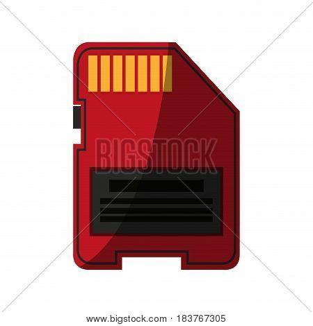 sd memory card icon image vector illustration design