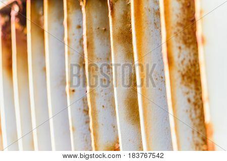 Industry Machine Background Rusty Metal Steel Grill Air Ventilation.