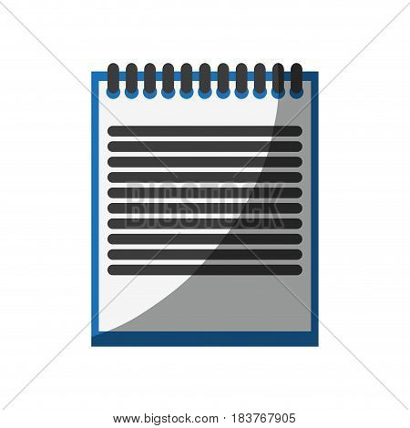 wired notepad icon image vector illustration design