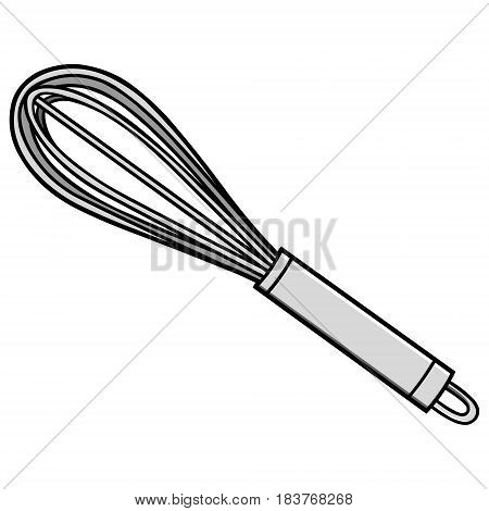 A vector illustration of a chef Whisk.
