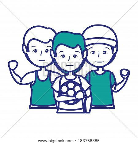 Sport mens cartoon icon vector illustration graphic design