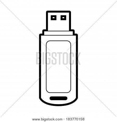 usb drive icon image vector illustration design  black line