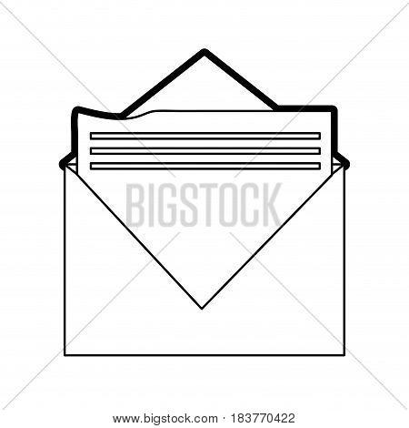 message envelope icon image vector illustration design  black line