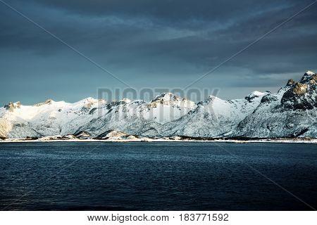 spring sunset, Lofoten islands, Norway