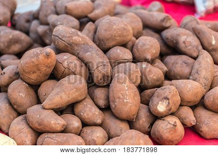 Sweet Potatoes Or Yam (vegetable) Sale For Food In Thailand
