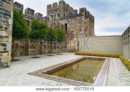 Pool In The Yard Of Rabati Castle In Akhaltsikhe, Georgia