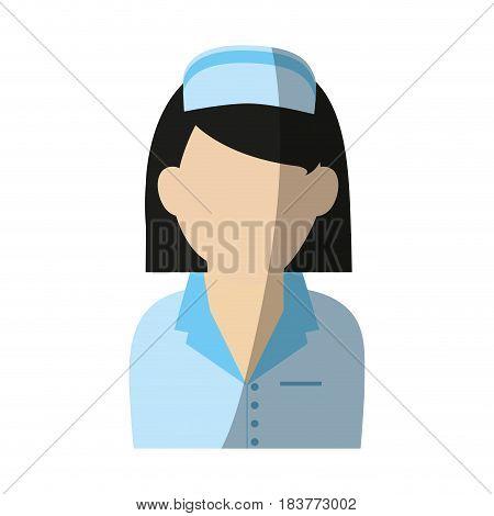 female nurse icon image vector illustration design