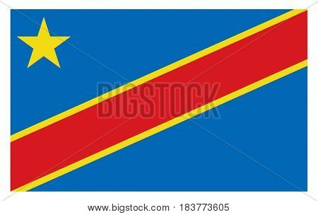 Democratic Republic of the Congo flag. Vector illustration country flag design.