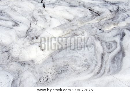 white foam  on  dirty water surface