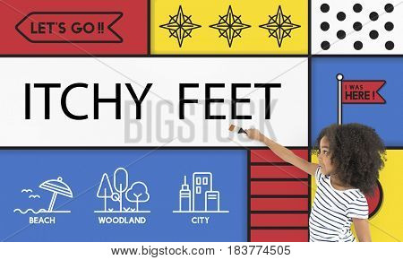 Itchy Feet Travel Holiday Icon
