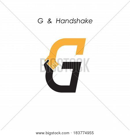 Creative G- letter icon abstract logo design vector template.Business offerpartnership icon.Corporate business and industrial logotype symbol.Vector illustration