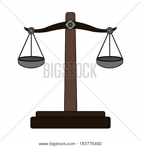 color graphic balance symbol of justice vector illustration