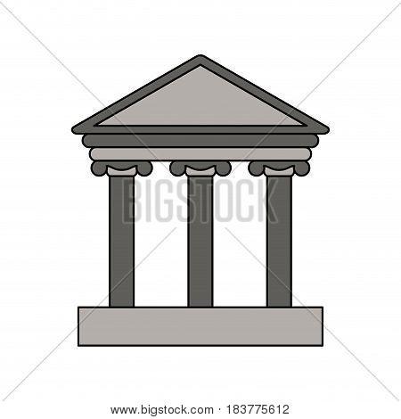 gray color graphic parthenon icon vector illustration