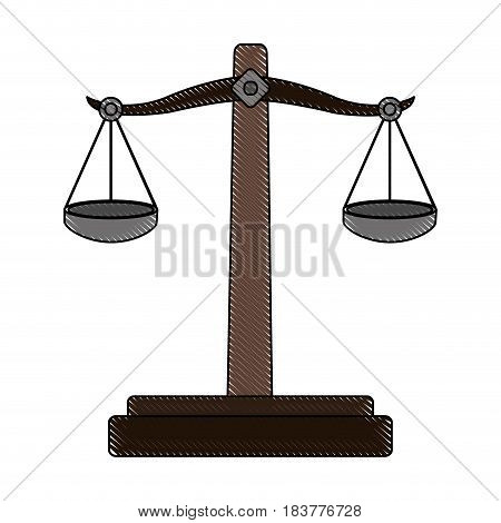 color blurred stripe of balance symbol of justice vector illustration