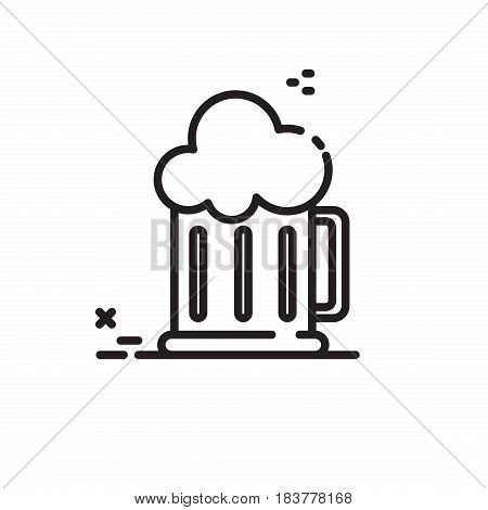 Beer mug vector. Icon for web and mobile devices.