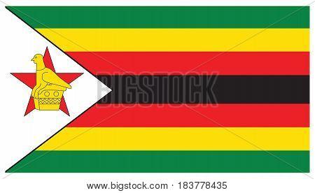Zimbabwe flag vector illustration design on white background.