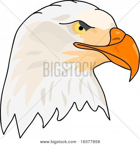 vector - side face eagle head