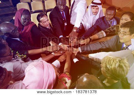 Diversity International People Hands Together Collaboration
