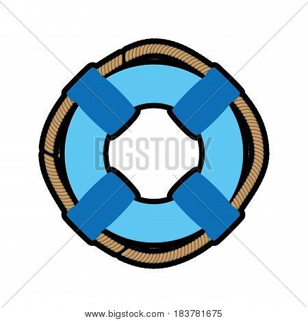 Ring buoy float icon vector illustration graphic design