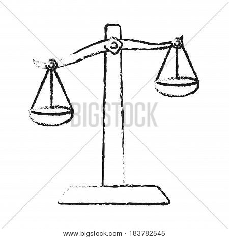 blurred silhouette balance symbol of justice vector illustration