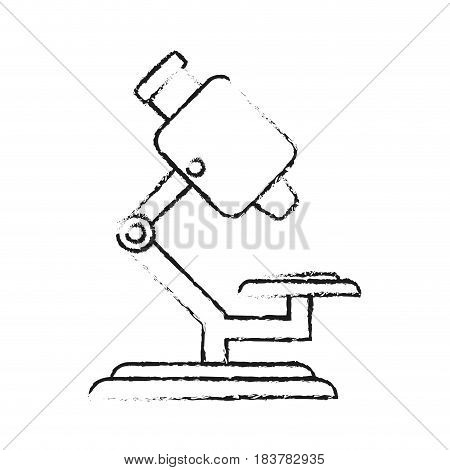 blurred silhouette microscope science tool vector illustration