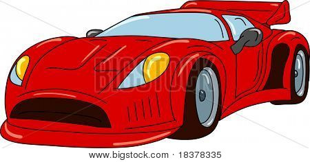vector - sport car tuning isolated on background poster