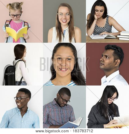 Diversity Set of People Learning Study Knowledge Collage