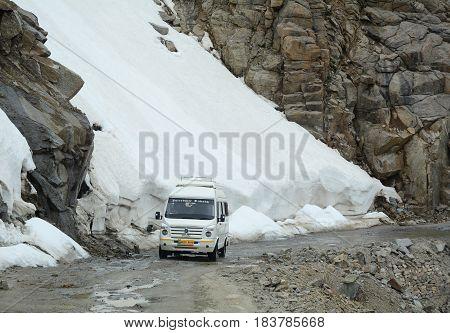 Mountain Road In Ladakh, India