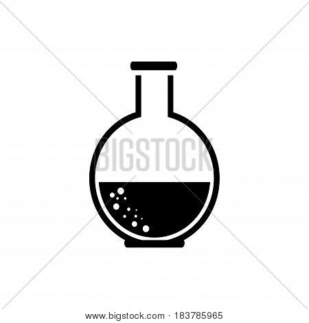 Chemistry flask lab icon vector illustration graphic design
