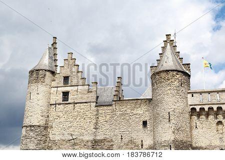 The Stone Castle In Antwerp