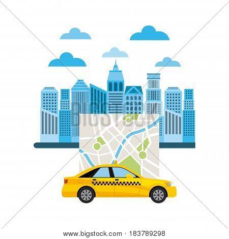 taxi service public transport vector illustration design