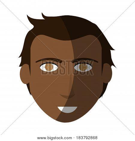 dark skin handsome man icon image vector illustration design