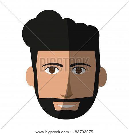 handsome bearded man icon image vector illustration design