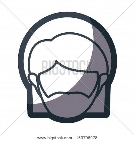 grayscale silhouette of faceless head of saint joseph father vector illustration